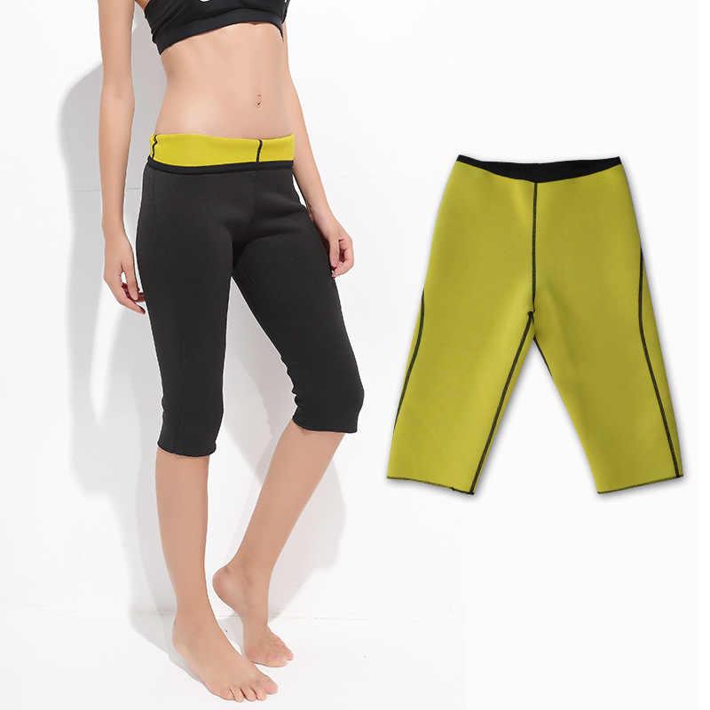 女性の減量パンツネオプレン運動レギンスサウナスーツボディシェイパーホットセクシー汗サーモ痩身カプリワークアウトカプリパンツ