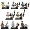 Lecgos 8 шт./лот Звездные войны The Force Пробуждает Клон Trooper Йода Строительные Блоки Устанавливает Модель Кирпичи Игрушки Legoe Совместимы Подарок