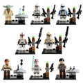 Lecgos 8 pçs/lote Yoda Star Wars The Force Desperta Clone Trooper Building Blocks Define Bricks Modelo Brinquedos Presente Legoe Compatível