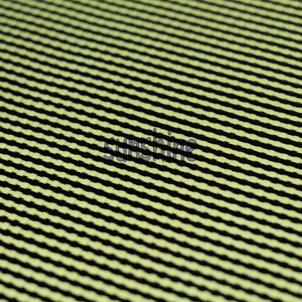 185gsm Carbon Aramid Fiber Hybrid Fabric Yellow Plain tkané Hollow Sq Factory Outlet