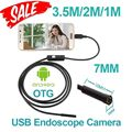 7mm 3.5 m 2 m 1 m Android OTG USB Endoscopio Cámara IP67 tubo impermeable de la serpiente pipe inspección boroscopio cámara micro usb 6 unids LED