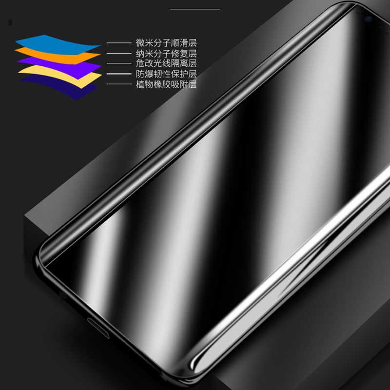 لسامسونج غالاكسي S9 S8 S6 حافة زائد غالاكسي S7 حافة نوت 8 ثلاثية الأبعاد واقي للشاشة فيلم غطاء كامل منحني مستديرة لا الزجاج المقسى