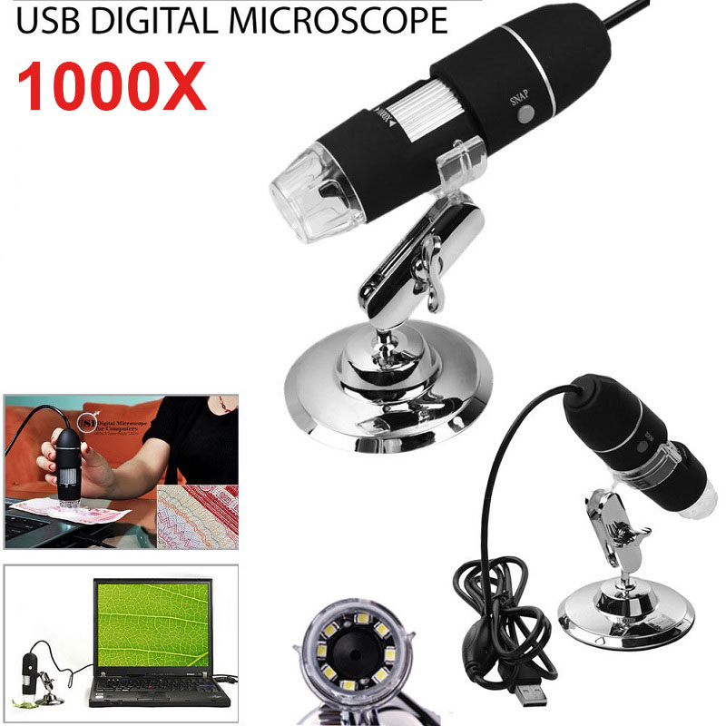 Hot Sale Baru Portabel 1000X 2MP Digital USB Microscope Magnifier Endoskopi Kamera Video Kualitas Tinggi Microscopio