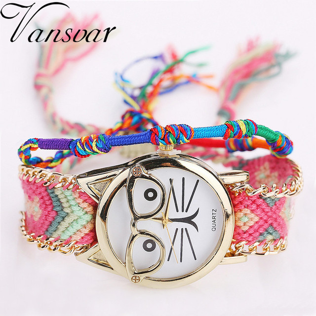 Handmade Friendship Bracelet Watch