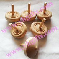 10PCS/LOT.Solid wood spinning top,Wood gyro,Paint unfinished spin top,Wood toys,Classic Toys,Educational toys,6x7cm