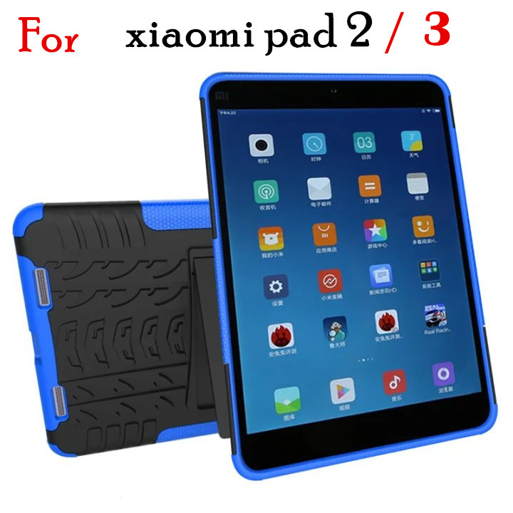 For Xiaomi Mi pad 2 3 Case Heavy Duty Defender Rugged TPU PC Armor Shockproof KickStand