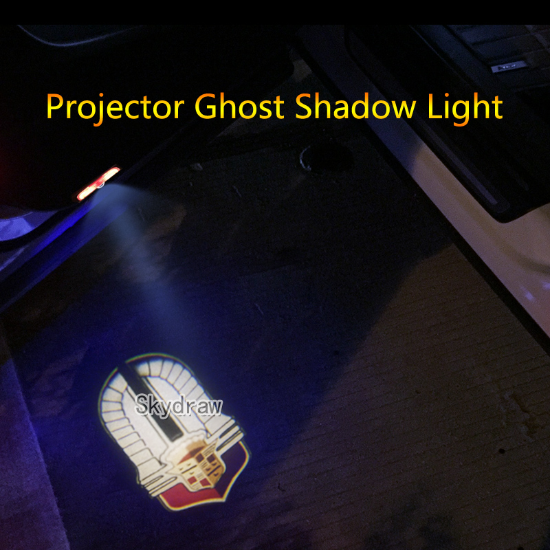 Painstaking 2 Piece For Cadillac Xt5 Srx Xts Ats Car Led Door Warning Light Projector Ghost Shadow Light Welcome Light