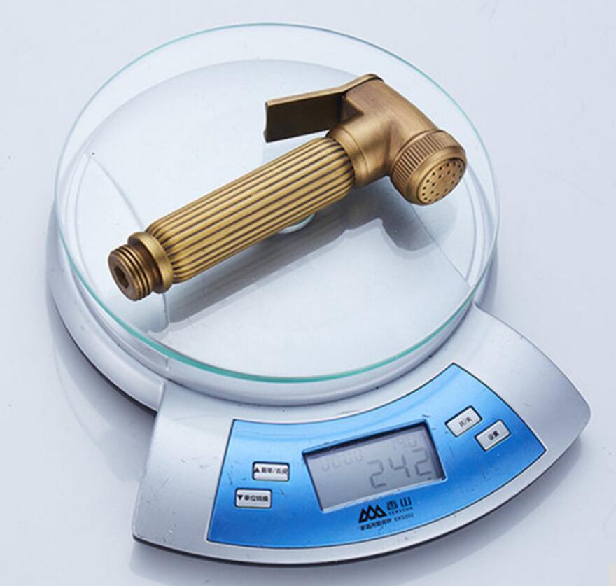 アンティーク真鍮ダブル使用ビデ蛇口単一のコールド水コーナーバルブビデ機能円筒形シャワータップクレーン  グループ上の 家のリフォーム からの ビデ蛇口 の中 3
