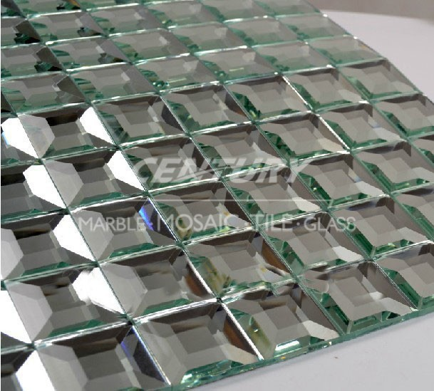5 Facets Crystal Gl Tile 30 30mm Mosaiv Diamond Mirror