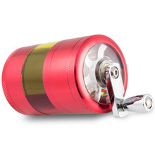 Formax420 2 Inch Aluminium Metal Hand-Crank Herb Grinder 4 Layers With Free Scraper 3 Colors Available