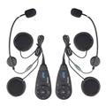 2 pcs 5 Pilotos Two-way V5 Intercom1200m Motocicleta Motorbike Capacete Communicator Interphone Bluetooth Headset FM Rádio