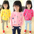 2016 Autumn Baby  hoodies cotton long sleeve children clothing kids pullovers lovely for  girls warm clothes HW1512