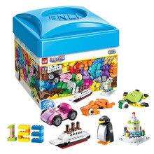 ILUMINAR 460 Pcs Em Massa DIY Blocos de Construção Criativos Modelo Crianças Brinquedo de Presente 3D Construção de Tijolos Brinquedos Educativos para Crianças
