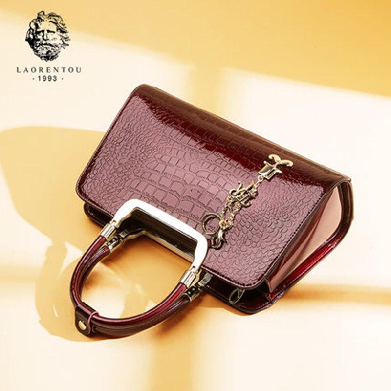 все цены на Laorentou Brand Women's Bags Shoulder Bag Women Handbag Luxury Shoulder Bag Women's Tote Patent Leather Handbags Female Bags онлайн