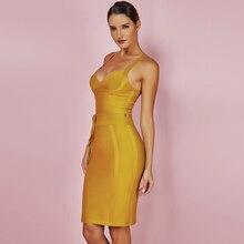 Bandage Dress Summer Spaghetti Strap Bodycon Dress