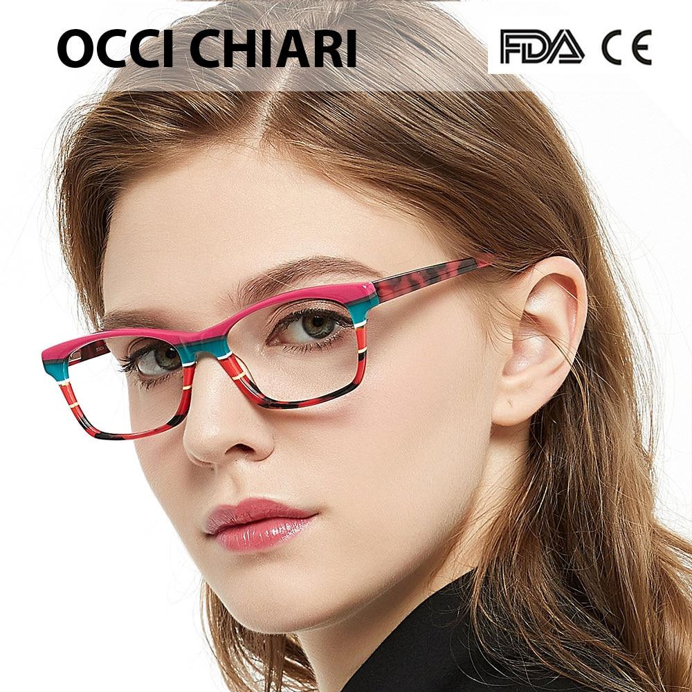 Image 4 - OCCI CHIARI HandMade Italy craftsmanship Prescription Lens Medical Optical Eyeglasses prescription Clear Glasses Frames CEREA-in Women's Eyewear Frames from Apparel Accessories