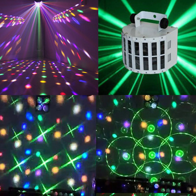 Control DMX activado por voz RGBW LED Luz de escenario para discoteca Fiesta DJ Beam Light Music Show Proyector láser Efecto de iluminación