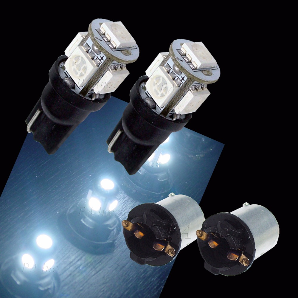 ПА вел 2шт х T10 168 W5W и 5smd автомобильные светодиодные авто Клин лампочки 12V Белый + 2 BA15s из преобразователей гнездо базы Разъем