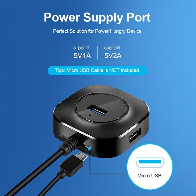 USB HUB USB 3.0 HUB Splitter Multiple USB Hab 2.0 Multi Hub Expander 4 Port HUB for PC Laptop 3