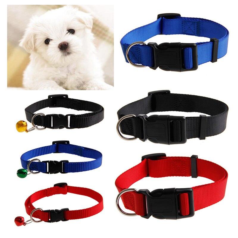 New Fashion Collars Pet Dog Cat Puppy Nylon Collar Neck Strap Adjustable Buckle