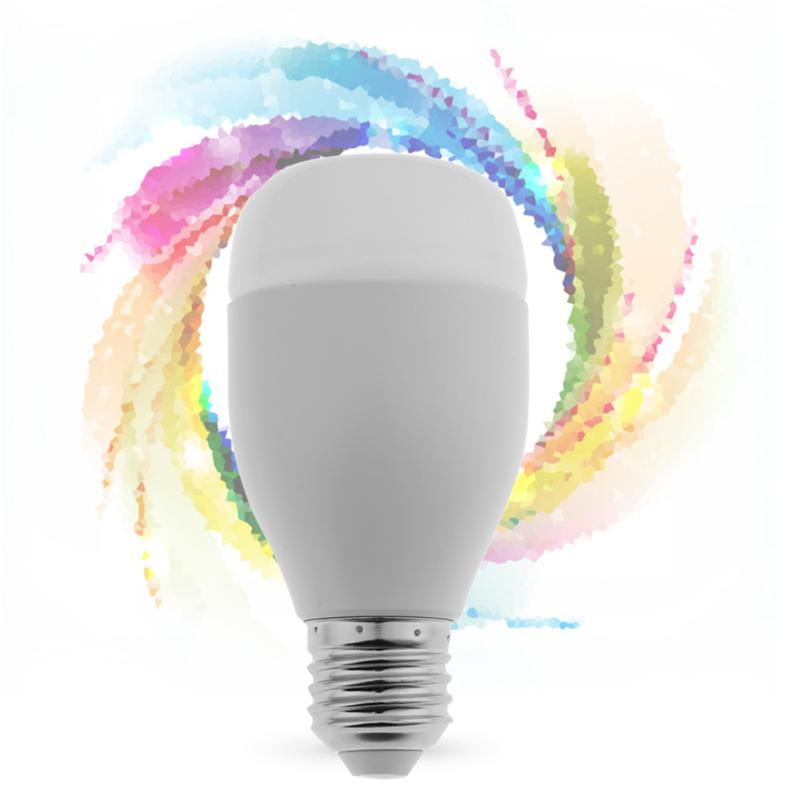 Wi-Fi Wireless Phone Remote Controlled Energy-Saving Colorful Light Intelligent Bulb LED Smart Bulb Lamp smart bulb e27 7w led bulb energy saving lamp color changeable smart bulb led lighting for iphone android home bedroom lighitng