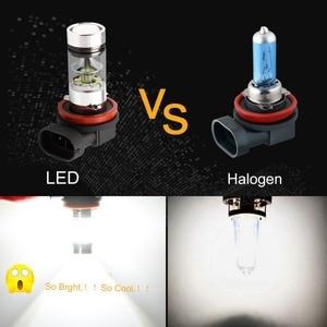 Image 4 - H8 h11 lâmpadas led hb4 9006 hb3 9005 luzes de nevoeiro condução 3030smd cauda lâmpada luz do carro estacionamento 1250lm 12v 24v automóvel 6000k branco