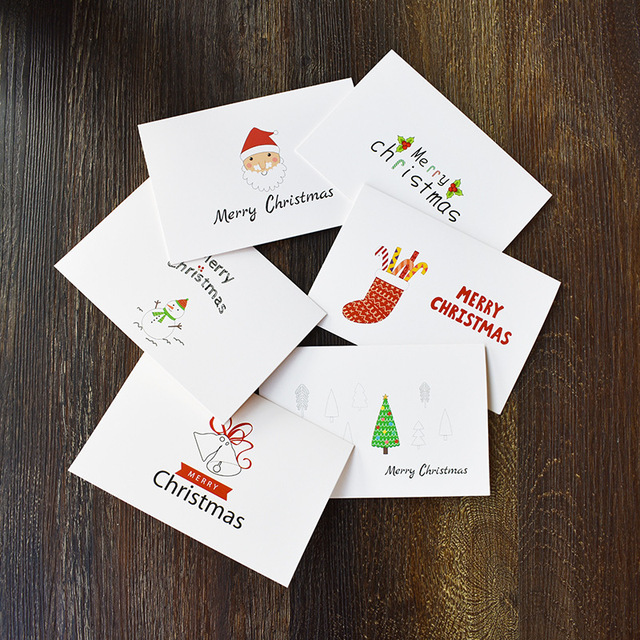 48pcs Lot Simple Creative Merry Christmas Cards With Envelope Amazon Selling Postcard Greeting