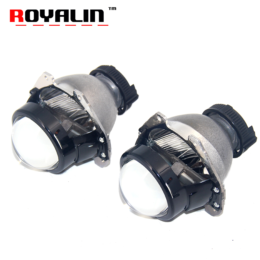 ROYALIN Car Bi Xenon Projector Headlight Lens for HONDA Civic Accord CRV Fit City HRV Auto Light Retrofit Use D2S D2R D2H Lamps riggs r hollow city