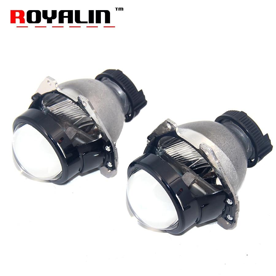 ROYALIN Car Bi Xenon Projector Headlight Lens for HONDA Civic Accord CRV Fit City HRV Auto Light Retrofit Use D2S D2R D2H Lamps bi xenon car led projector lens assembly for mercedes benz m w163 w164 with halogen headlight only retrofit upgrade 1998 2008