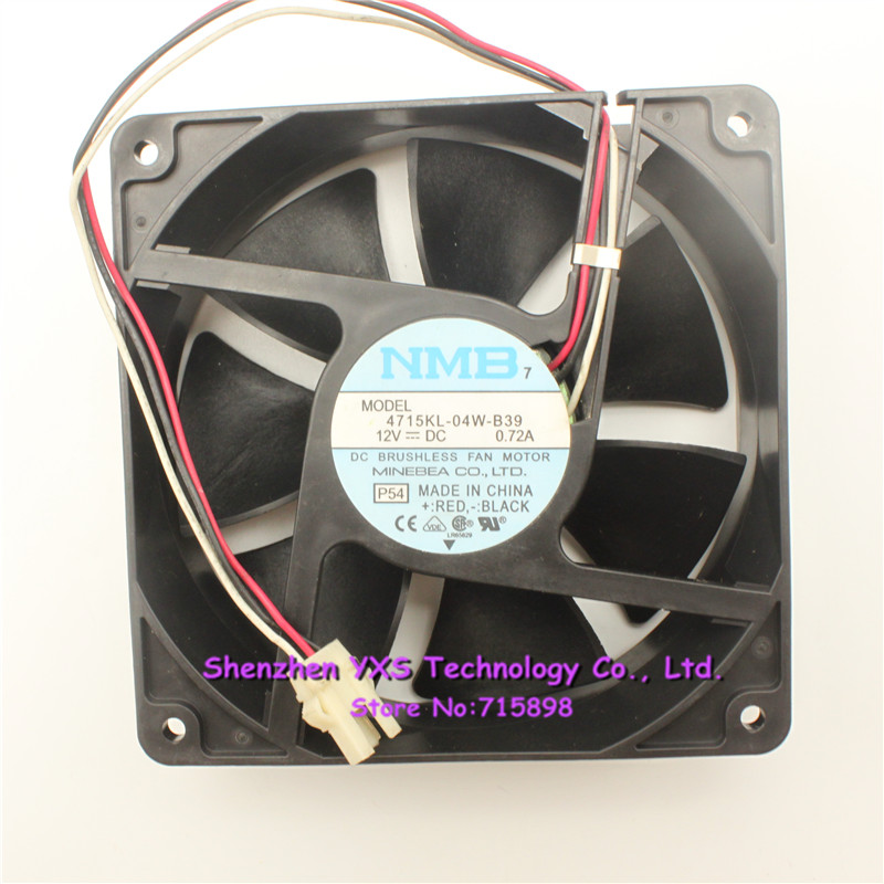 for NMB 12038 12CM 4715KL-04W-B39 DC12V 0.72A 3-Wire Cooling Fan