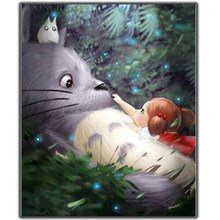 5D Diy Diamond Painting Cross Stitch Little Girl & Rabbit Needlework Embroidery Full Round Mosaic Decoration Resin Kits
