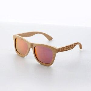 Image 5 - CUUPA, Ретро стиль, деревянные женские солнцезащитные очки, мужские, высокого качества, фирменный дизайн, резная бамбуковая оправа, поляризационные солнцезащитные очки, пляжные очки