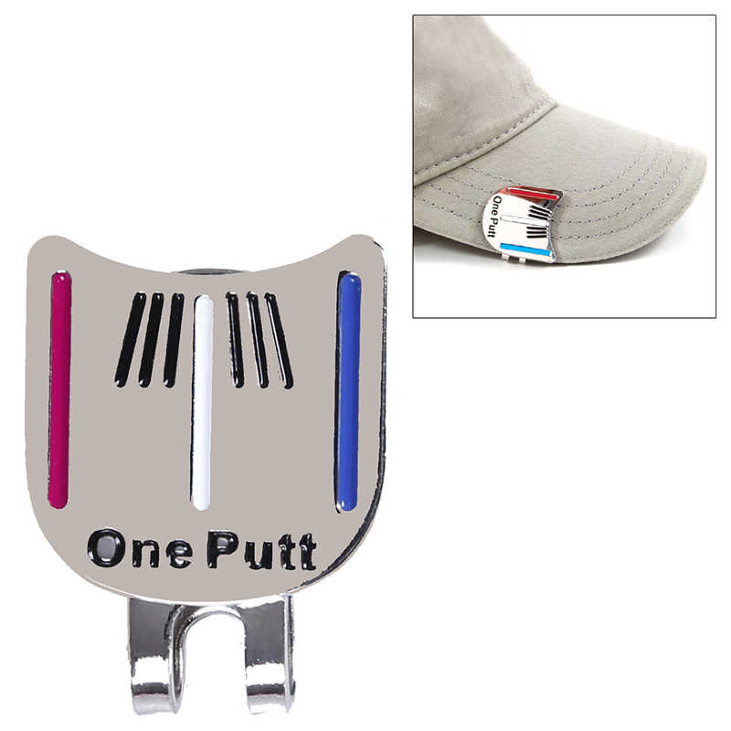 Alloy Golf Alignmentเล็งเครื่องมือBall Markerคลิปหมวกแม่เหล็ก