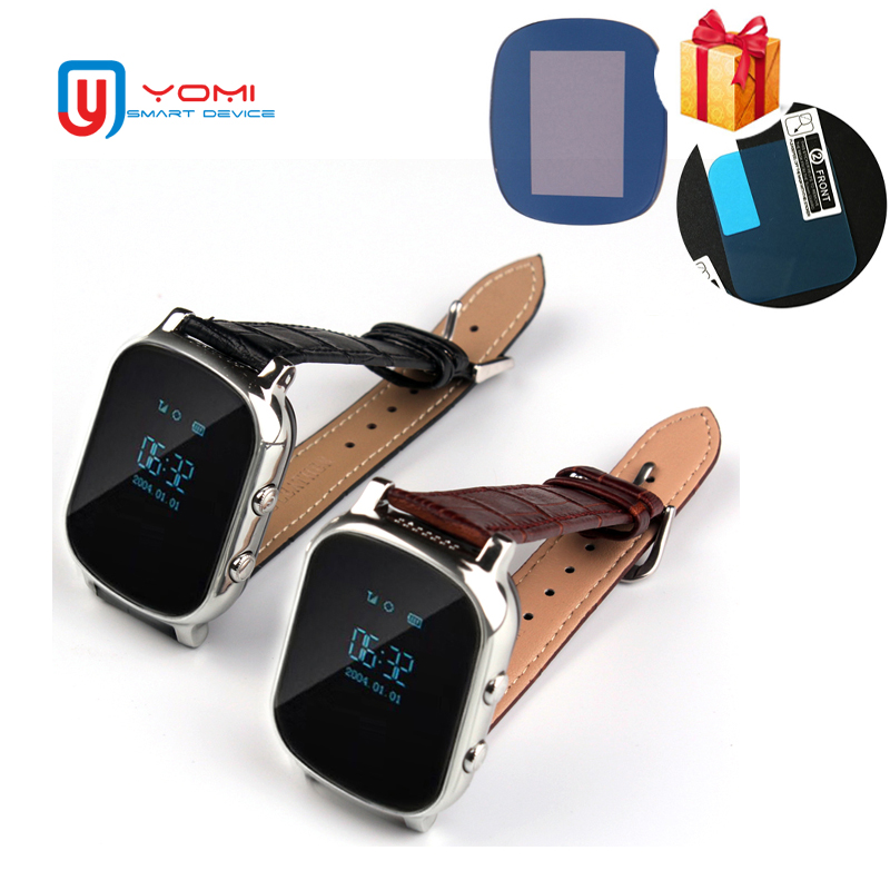 GPS Smart Watch T58 Plus with Glass Film SIM Card GPS WIFI Tracker SOS Remote Monitor Anti-Lost Leather Smartwatch Child Elder baby kids child smart gps watch universal protection tempered smartwatch glass screen film protector case for q50 t58 y3 2pcs