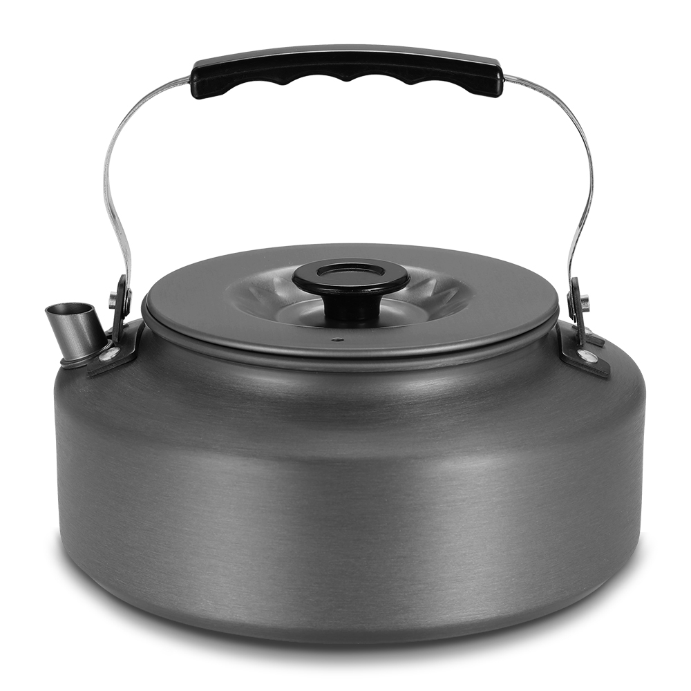 1 6L Portable Aluminum Alloy Kettle Cookware Outdoor Camping Pot Whistling Water Tea Kettle Camping Hiking Travel Coffee Pot in Outdoor Tablewares from Sports Entertainment
