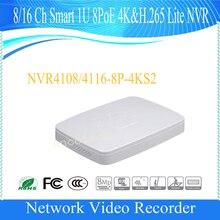 Бесплатная доставка Dahua 8/16 канала Смарт 1U 8PoE 4 К и H.265 Lite NVR без логотипа NVR4108-8P-4KS2/NVR4116-8P-4KS2