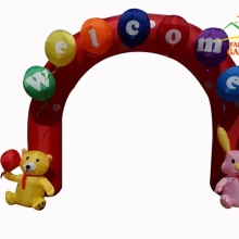 3 м(10 футов) надувные радужные арки Rabit Bear arches Archway для детского сада Сварка вечерние фестивали украшения с воздуходувкой