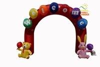 3 м (10FT) надувные Добро пожаловать Rabit медведь Арки арки для детского сада сварки вечерние фестивалей Аксессуары с воздуха Воздуходувы