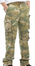 Abetteric Men's Camouflage Cargo Pant Trousers Loose Style