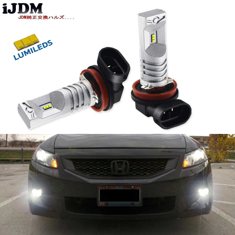 iJDM H11 LED 6000K White Powered By Luxen LED H16JP H8 H9 LED Bulbs For Fog Lights Driving Lamps or Headlighit Lamp Bulb 12V