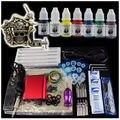 Kits Del Tatuaje Del principiante 1 Ametralladoras fuente de Alimentación Foot Pedal Aguja M1302-1