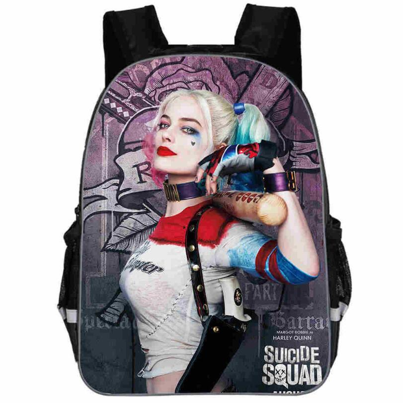 2019 Suicide Squad Harley Quinn Backpack Teenagers Boys Girls School Bags Sans Student Travel Bag Shoulder Backpacks Sac A Dos