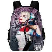2019 Suicide Squad Harley Quinn sac à dos adolescents garçons filles sacs d'école Sans étudiant sac de voyage épaule sacs à dos sac a dos