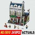 Лепин 15010 Создатель Экспертов Городской Улицы Парижский Ресторан Модель Строительные Блоки Игрушки Совместимость 10243 Подарки