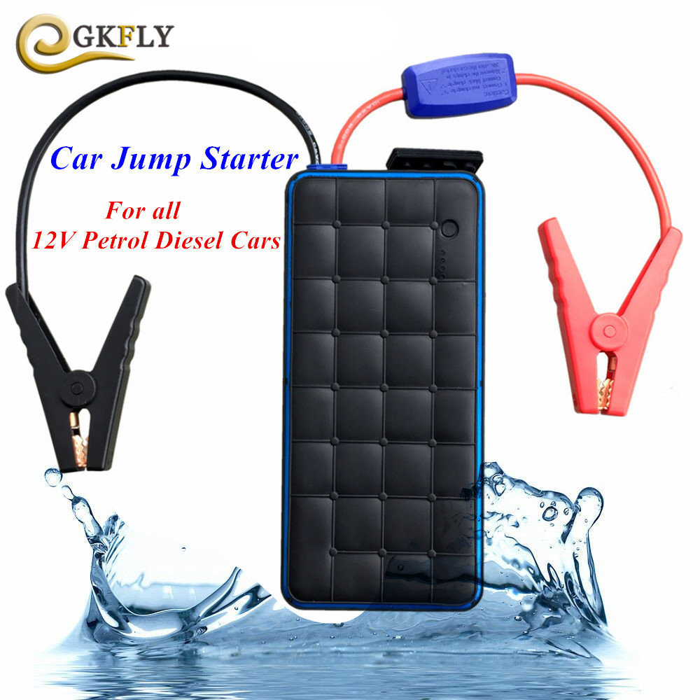 Super Waterproof 1000A Petrol Diesel Car Jump Starter Portable Power Bank Starting Device Car Charger For Car Battery Booster CE multi function 16000mah car jump starter portable 12v petrol diesel starting device power bank charger for car battery booster