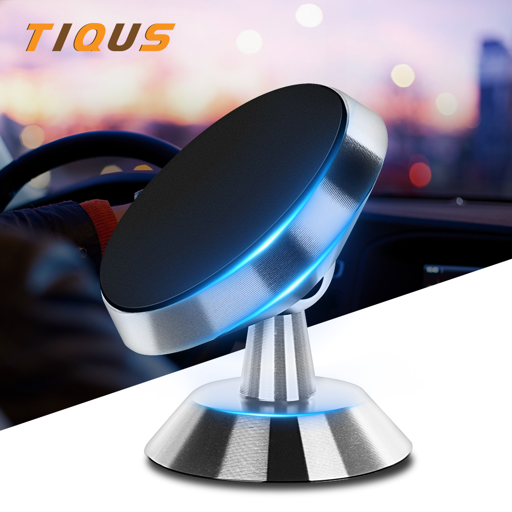 TIQUS Phone Car Holder For IPhone Samsung Magnetic Air Vent Mount Stand Universal Magnet Car Phone Holder For Huawei Xiaomi