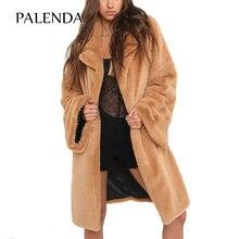 2018 women long coat of faux rabbit fur jacket Autumn winter lady's rabbit shoes long warm coat cozy soft top
