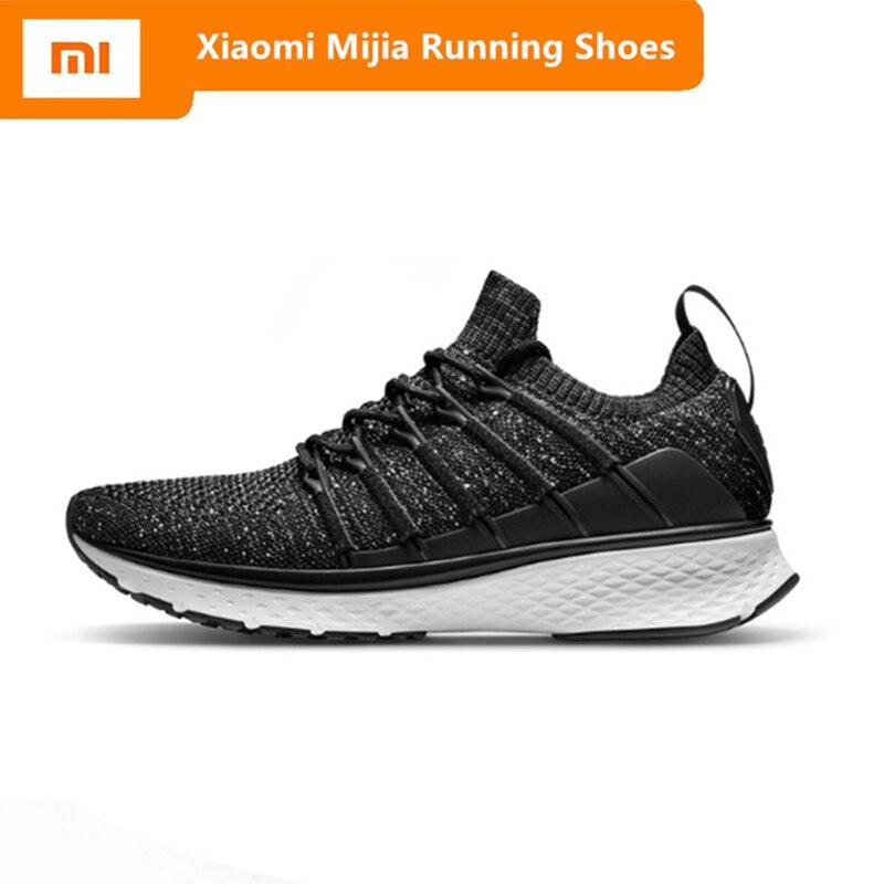 2019 Xiaomi Mijia 2 baskets sport intelligent Uni-moulage Techinique système de verrouillage de l'os de poisson élastique tricot Vamp semelle absorbant les chocs