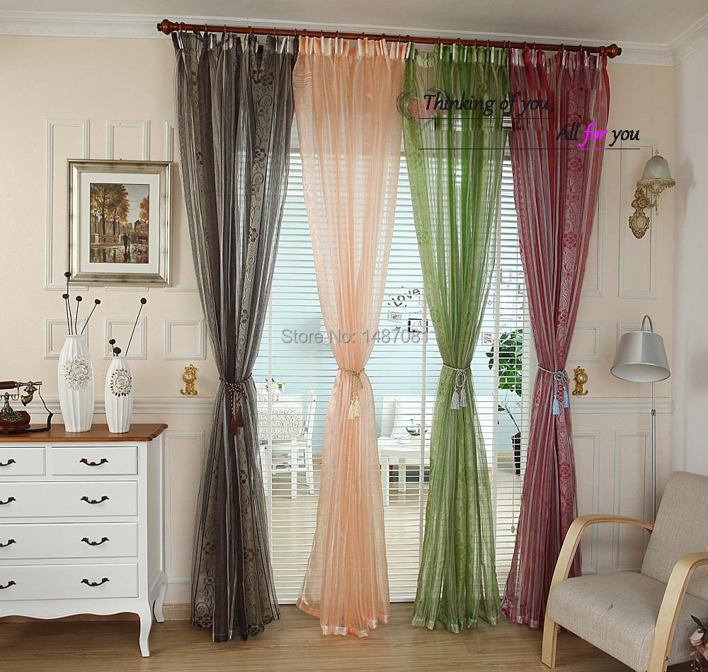 Grey Sale High Quality Floral Tulle Window Curtain Sheer