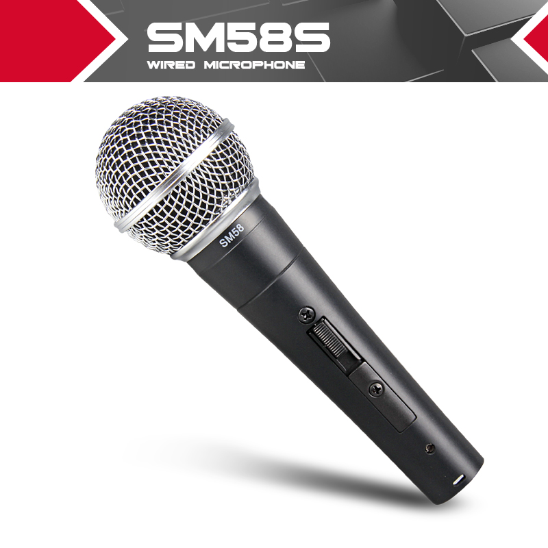 New High quality SM 58 58S SM58S SM58SK Clear Sound Handheld Wired Karaoke Microphone Freeshipping